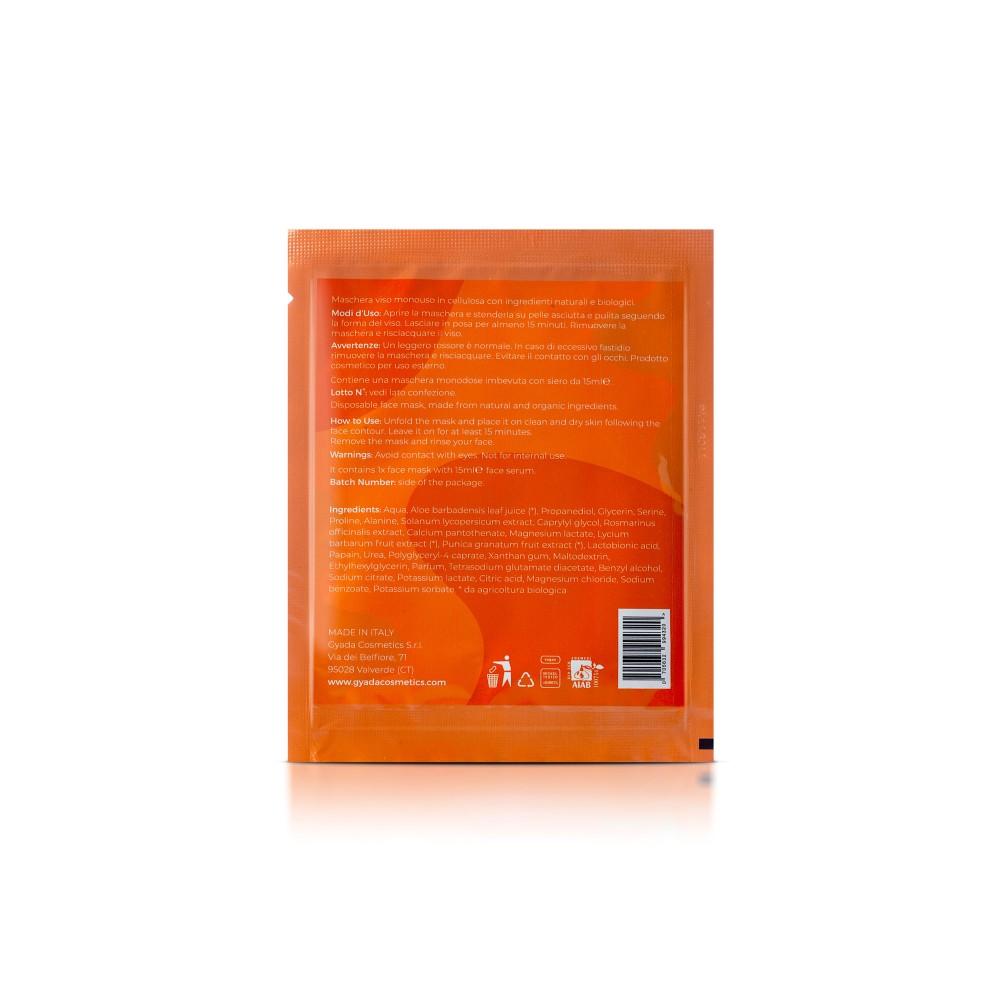 Gyada Cosmetics Face Sheet Mask n.3 - Exfoliating / Enlightening
