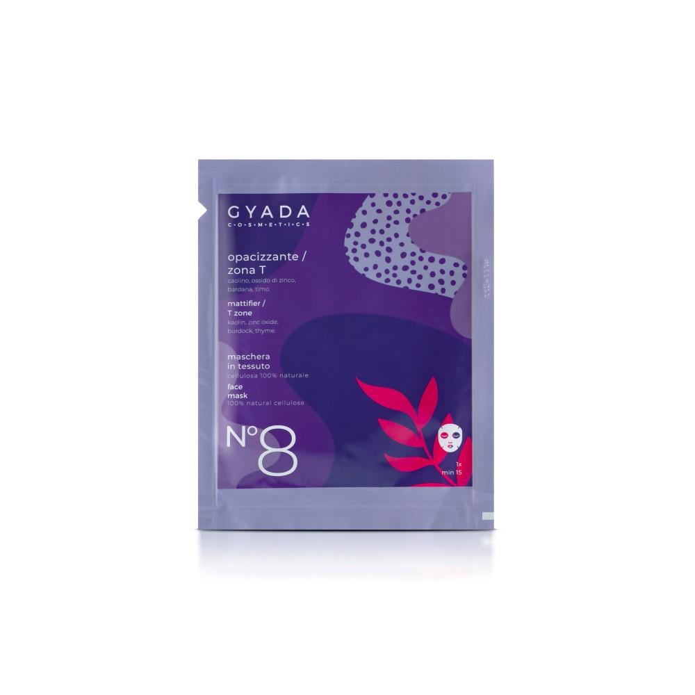 Gyada Cosmetics Face Sheet Mask n.8 - Mattifier / T-Zone