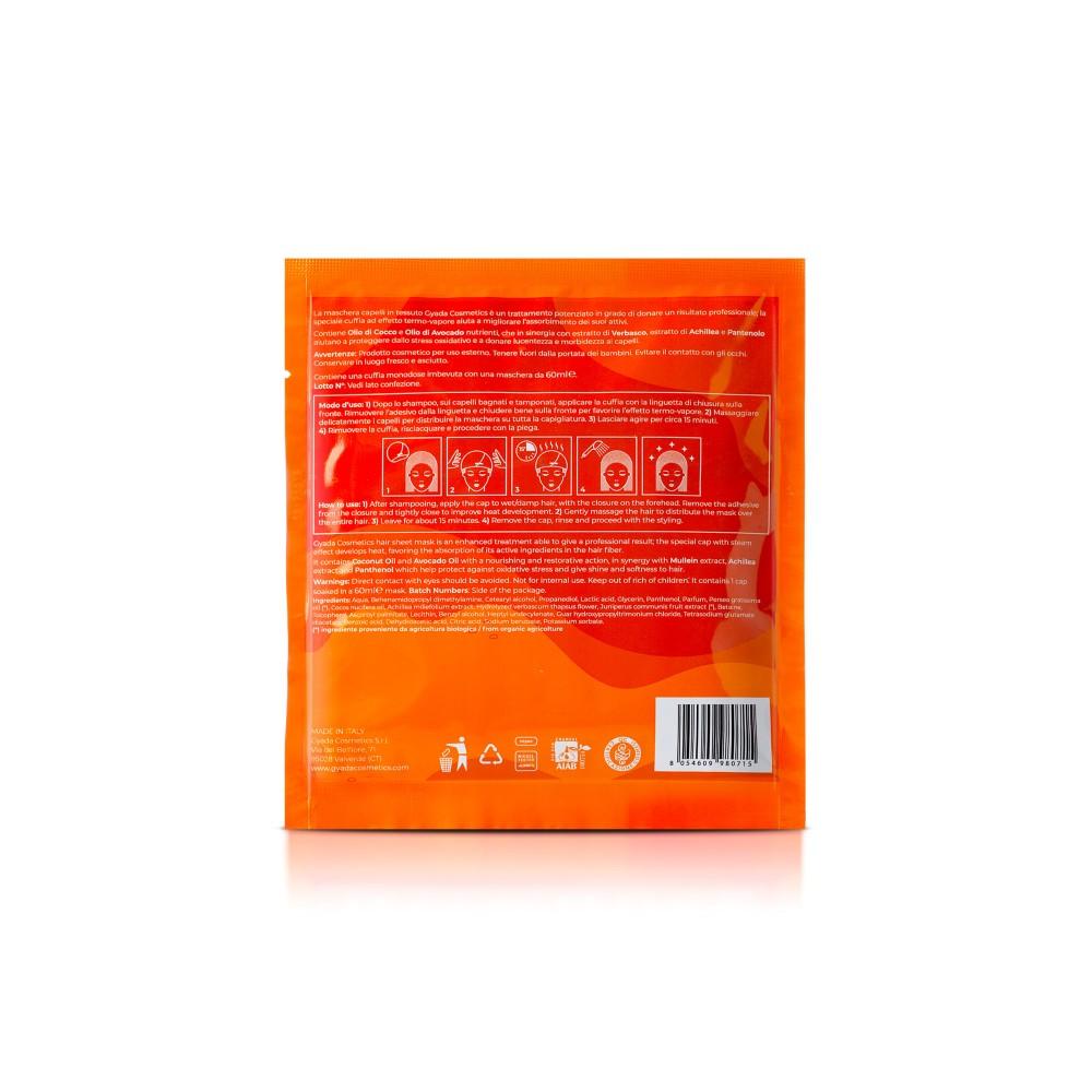 Gyada Cosmetics Hair Sheet Mask Steam Effect Enlightening – Revitalizing n.6
