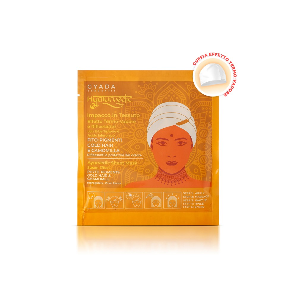 Gyada Cosmetics Hyalurvedic Sheet Mask Steam Effect - Highlighters for Gold Hair