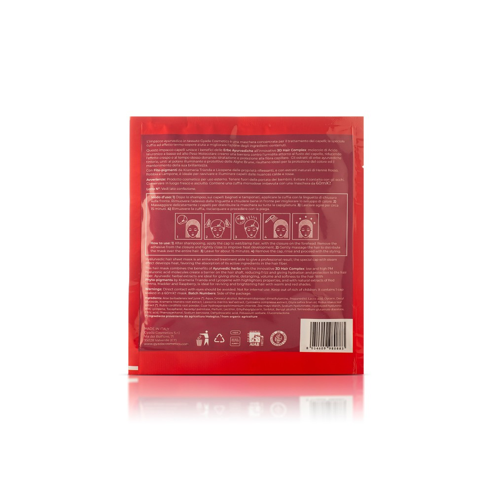 Gyada Cosmetics Hyalurvedic Sheet Mask Steam Effect - Highlighters for Red Hair